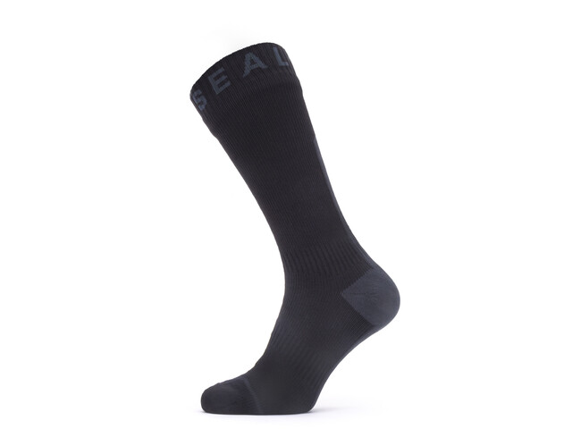 Sealskinz Waterproof All Weather Mid Socks Black/Grey